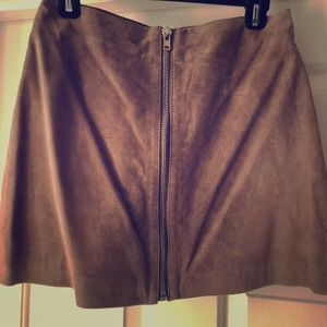 NWT. Six Crisp Days Leather mini skirt.